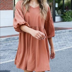 Dresses & Skirts - Lauren Puff Sleeve Babydoll Dress